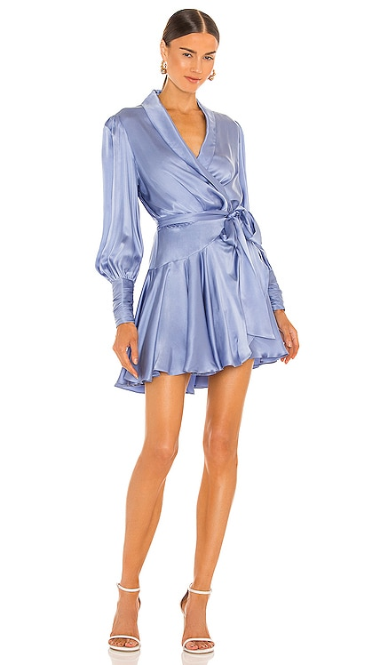 Silk Wrap Mini Dress Zimmermann $595 NEW
