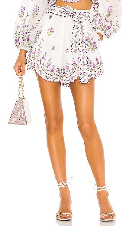 Poppy Floral Scallop Short Zimmermann $450 NEW