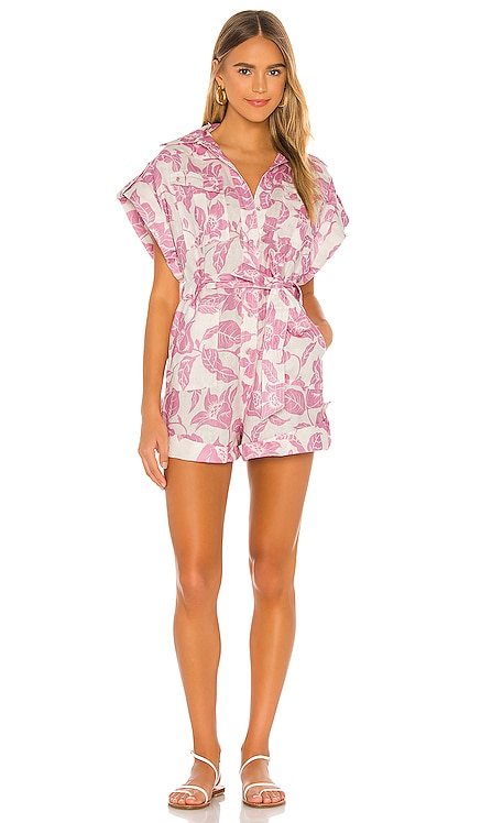 Bells Roll Cuff Playsuit Zimmermann $595 NEW