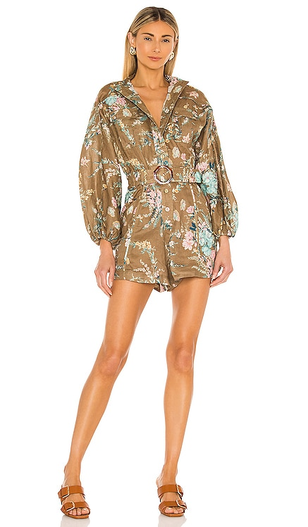 Cassia Panelled Playsuit Zimmermann $620 NEW