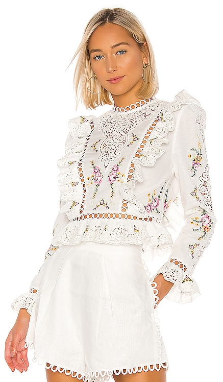 Allia Cross Stitch Flared Top Zimmermann $375