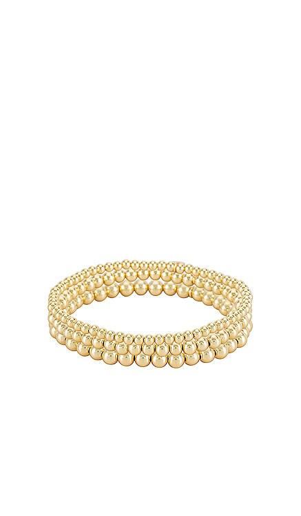 Bead Bracelet Stack Zoe Lev $180 NEW