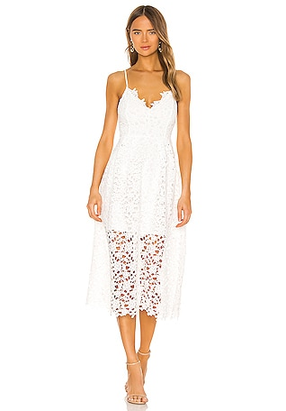 Lace A Line Midi Dress