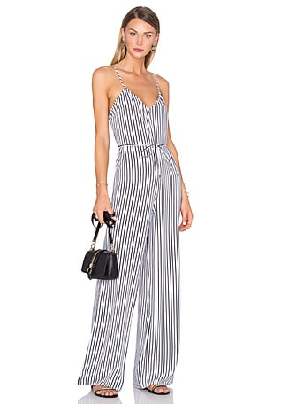 ff938b40a030 ITEM ADDED TO BAG. x REVOLVE Gia Jumpsuit in White   Black Stripe. House of Harlow  1960