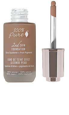 2nd Skin Foundation: Olive Squalene + Fruit Figments 100% Pure $47