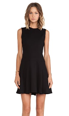 DEREK LAM 10 CROSBY Seam Details Fit & Flare Dress in Black