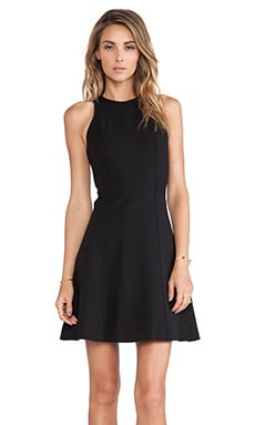 DEREK LAM 10 CROSBY Fit and Flare Dress in Black