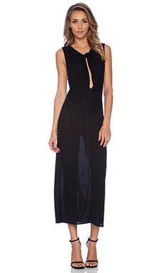 10 CROSBY DEREK LAM Twist Front Maxi Dress in Black
