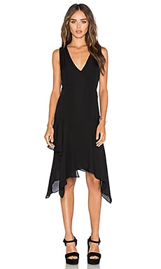 Asymmetrical Tank Dress in Black