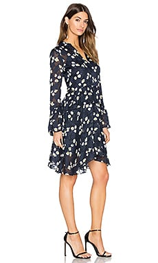 Bell Sleeve Dress en Imprimé Minuit
