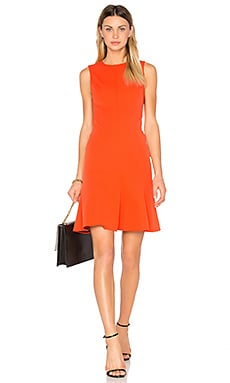 Fit & Flare Dress in Bright Coral