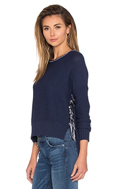 Tassel Pullover Sweater in Midnight