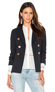 DEREK LAM 10 CROSBY Double Breasted Jacket in Midnight