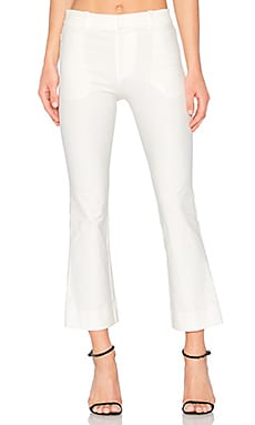 Cropped Flare Trouser in Soft White