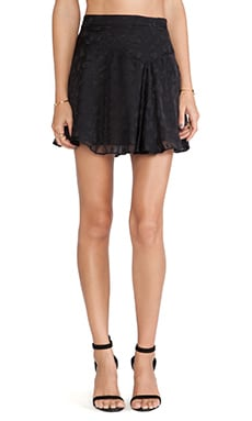 DEREK LAM 10 CROSBY Asymmetrical Hem Mini Skirt in Black