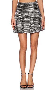DEREK LAM 10 CROSBY Skirt in Black & White