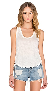 DEREK LAM 10 CROSBY Pom Pom Tank in Soft White