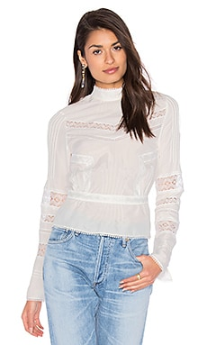High Collar Blouse in Soft White