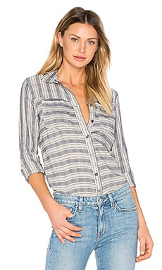 Long Sleeve Button Down Shirt in Indigo