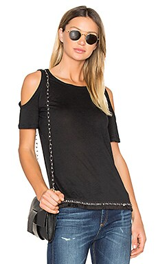 Cold Shoulder Tee in Black
