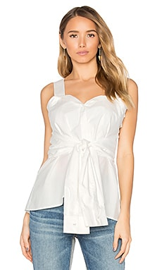 Tie Front Top in Soft White