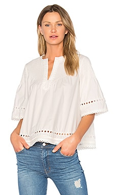 Pintuck Top in Soft White