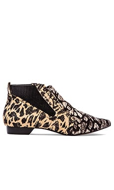 DEREK LAM 10 CROSBY Alegra Too Bootie in Black/White Animal Ikat