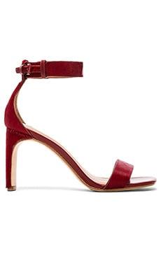 DEREK LAM 10 CROSBY Tilden Cow Hair Sandal in French Red