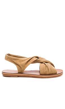 Pell Sandal in Safari Fine Suede