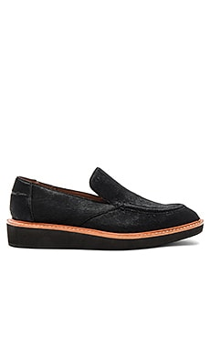 Dana Calf Hair Loafer in Schwarzes Kalbsfell