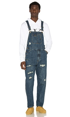 10 Deep Damien Repaired Overalls in Dark Repair