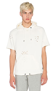 10 Deep Mothra S/S Hood Sweat in White