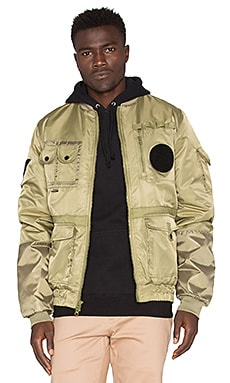 10 Deep Technicians Aviator Jacket in Army Green