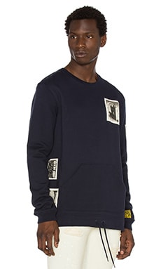 10 Deep Shadowplay Badge Crewneck in Navy