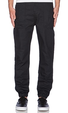 10 Deep Siler Banded Bottom Pant en Noir