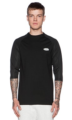 10 Deep Breezy 3/4 Mesh Sleeve Tee in Black