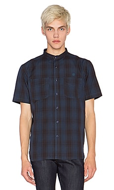 10 Deep Hamilton Stand Collar Button Down in Navy