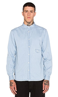 10 Deep Redtail Sweeper Button Down in Lt. Indigo