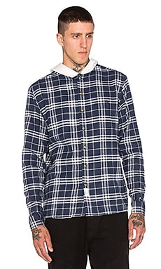 10 Deep Work Hooded Flannel in Navy