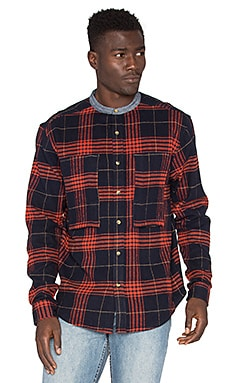 10 Deep Mandarin Work Shirt in Red
