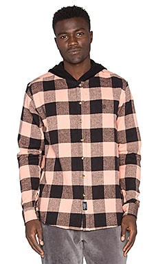 10 Deep CB's Hooded Flannel in Mauve