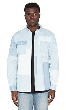 10 Deep Lazarus Workshirt in Light Stone Wash