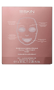 Rose Gold Brightening Facial Treatment Mask 5 Pack 111Skin $135