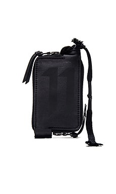 11 by Boris Bidjan Saberi 11 Logo Reflective Wallet in Black