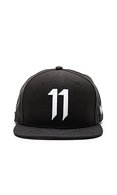 11 by Boris Bidjan Saberi 11 Logo Cap in Black & White
