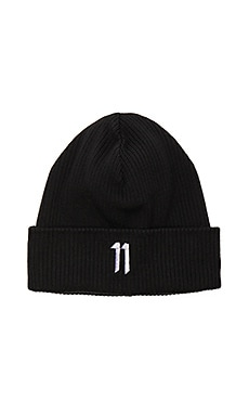 11 by Boris Bidjan Saberi Beanie in Black