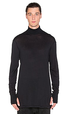 11 by Boris Bidjan Saberi Piece Dyed Sweater in Black Dye