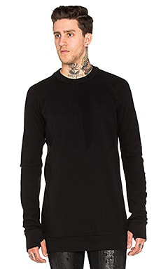 11 by Boris Bidjan Saberi Sweater in Black Dye