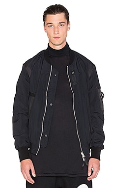 11 by Boris Bidjan Saberi Reversible Tape Bomber in Black