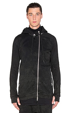 11 by Boris Bidjan Saberi Zip Jacket with Removeable Hood in Black Snow